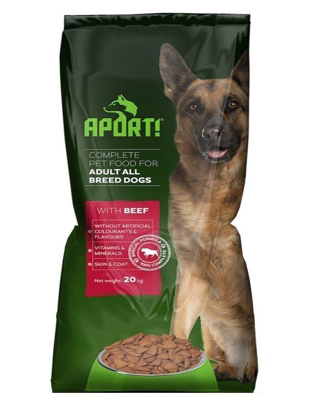 APORT sausas šunų pašaras su jautiena, 20 kg