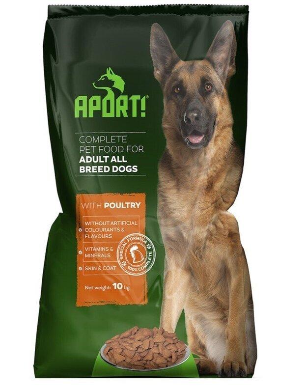 APORT sausas šunų pašaras su paukštiena, 10 kg