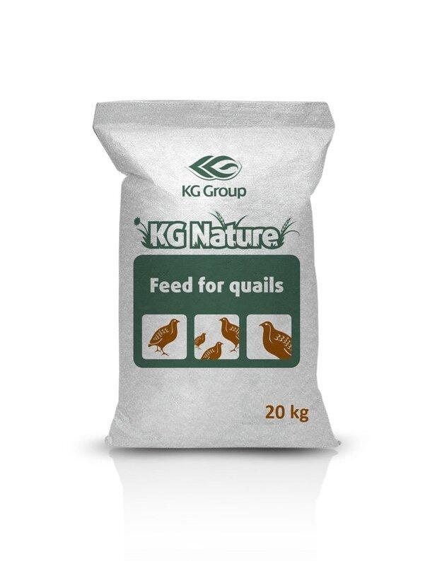 Lesalas putpelių prieaugliui KG NATURE BE GMO, 20 kg