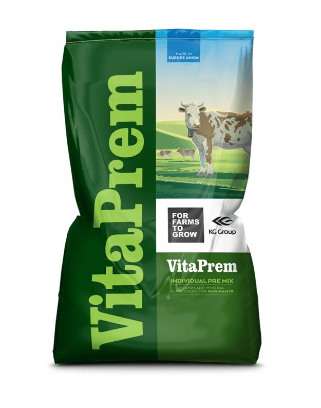 Vitamininis mineralinis papildas melžiamoms karvėms su chelatais  EXTRA, 25 kg