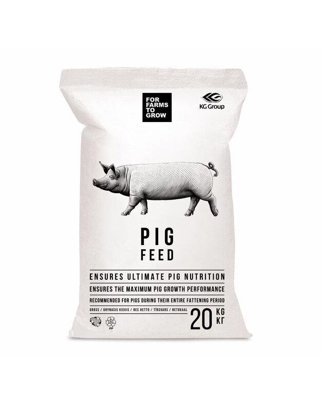Pašaras penimoms kiaulėms II periodas (60 kg  ir daugiau), 20 kg