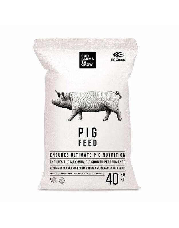 Pašaras penimoms kiaulėms I periodas ( 35-60 kg), 40 kg
