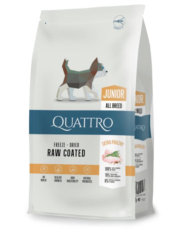 QUATTRO Junior su paukštiena sausas jaunų šunų pašaras, 7kg