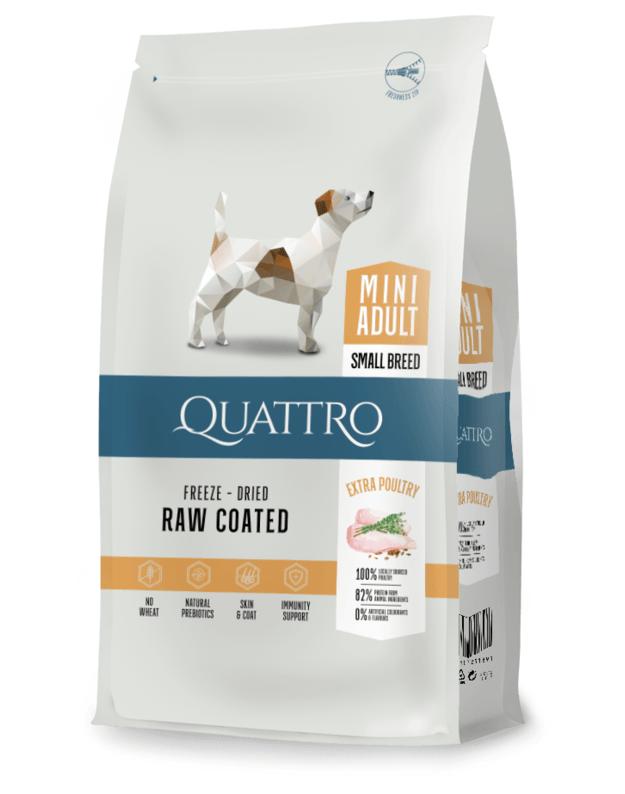 QUATTRO Mini Adult su paukštiena sausas mažų veislių šunų pašaras, 7kg