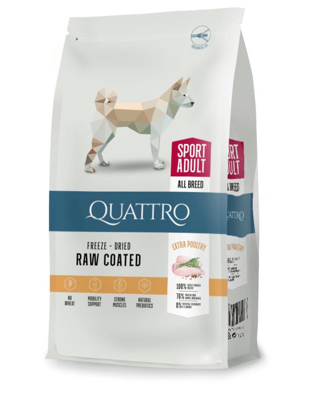 QUATTRO Sport Adult su paukštiena sausas aktyvių šunų pašaras, 12kg